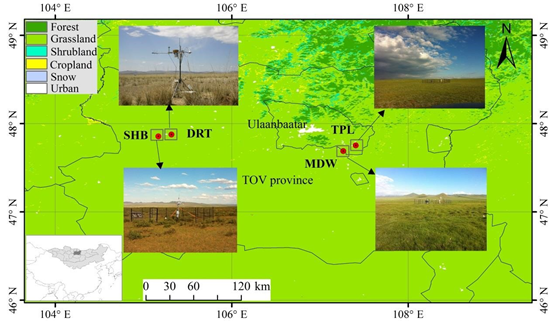 Comparison of surface energy budgets and feedbacks to microclimate among different vegetation landscape on the Mongolian Plateau