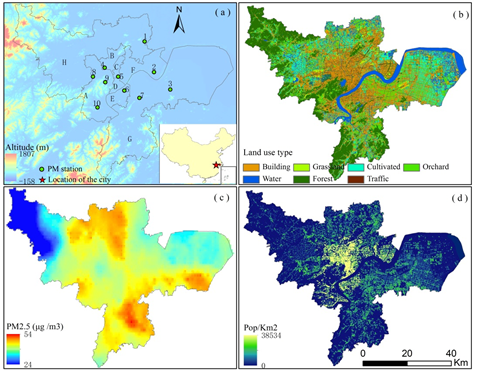 The Spatiotemporal Distribution of PM2.5 and its Relationship to Land-Use Patterns and Special to Land-Use and People in Hangzhou