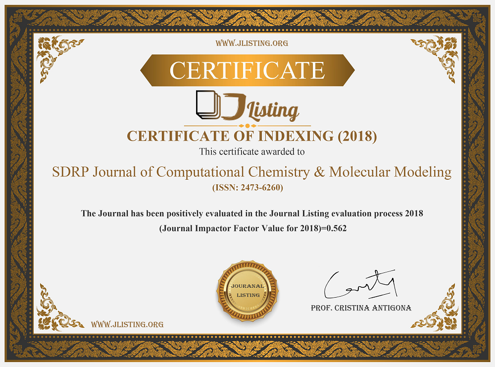 Journal of Computational Chemistry & Molecular Modeling -Impact Factor