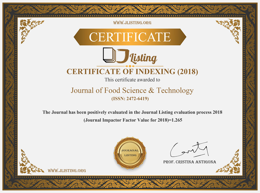 Journal of Food Science & Technology-Impact Factor