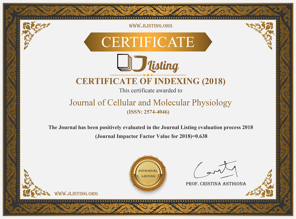 Journal of Cellular and Molecular Physiology-Impact Factor